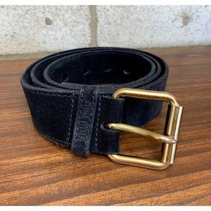 Miu Miu Black Suede Leather Belt
